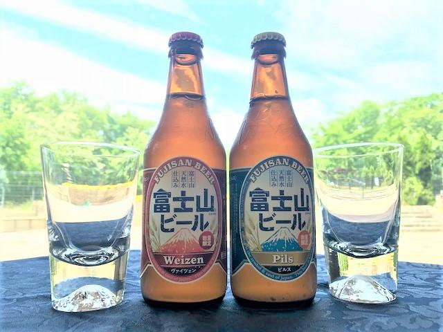 地ビール飲み比べ!富士山グラスで乾杯♪