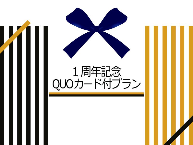 1周年記念QUOカードプラン