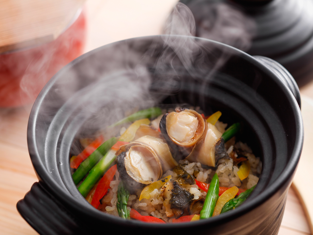 炊きたて和風シーフードパエリア(夕食イメージ)