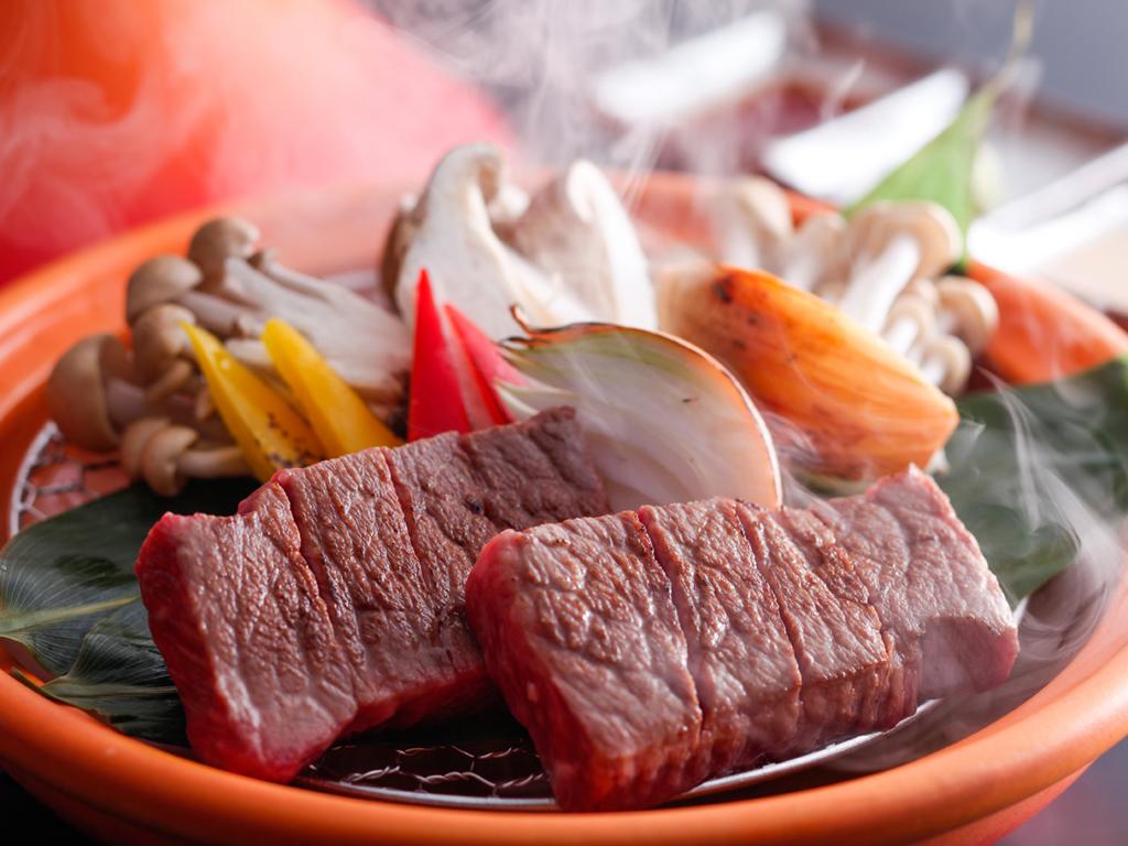 淡路牛宝楽ステーキ(夕食イメージ)