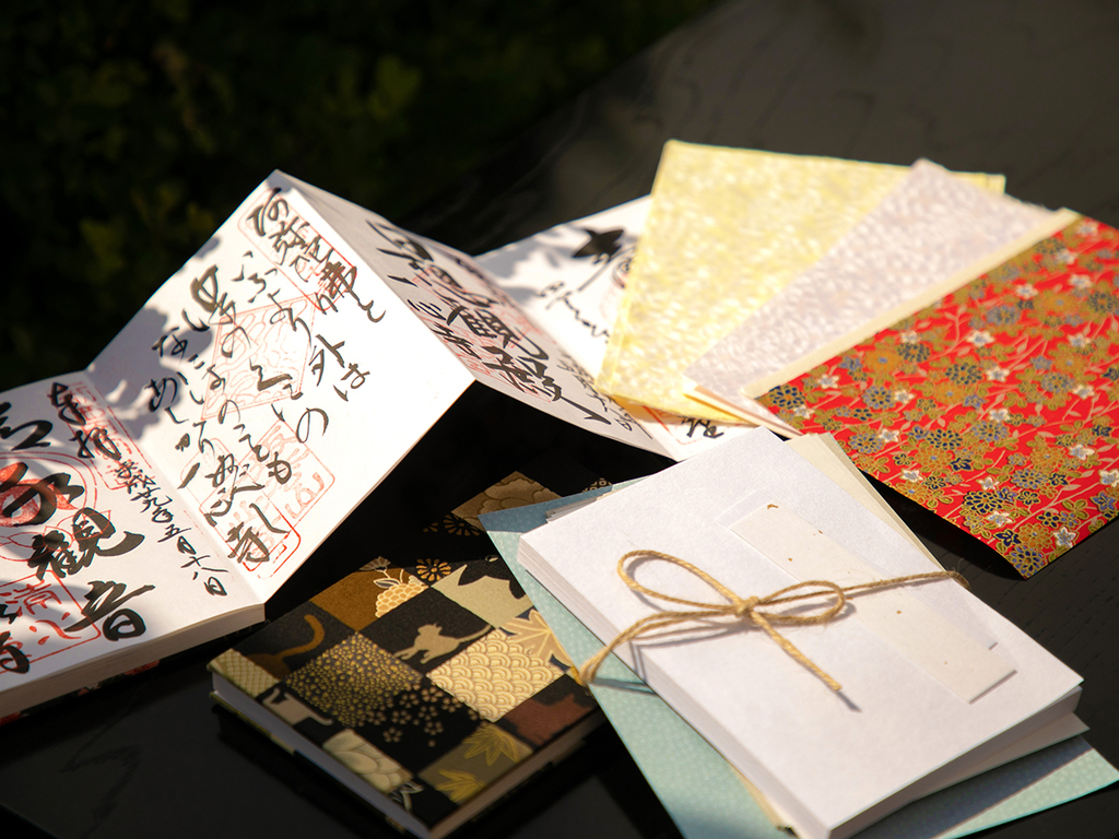 【特典】 御朱印帳手作りキット。あなた好みに、お気に入りの一冊を手作りで♪