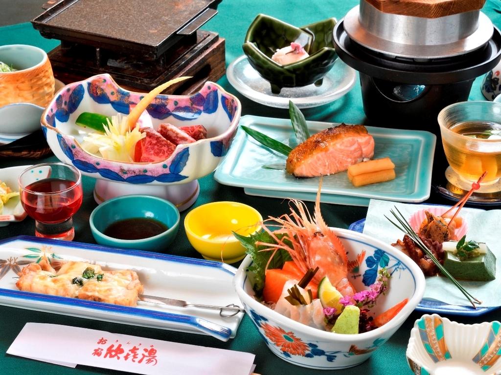 ◆【ご夕食】〜山幸会席松コース〜※2019年6月〜10月の一例です。