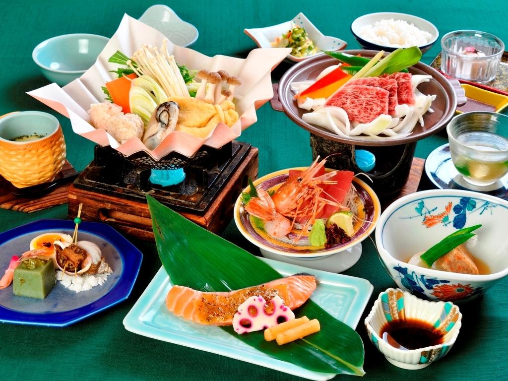 ◆【ご夕食】〜山幸会席竹コース〜※2019年6月〜10月の一例です。