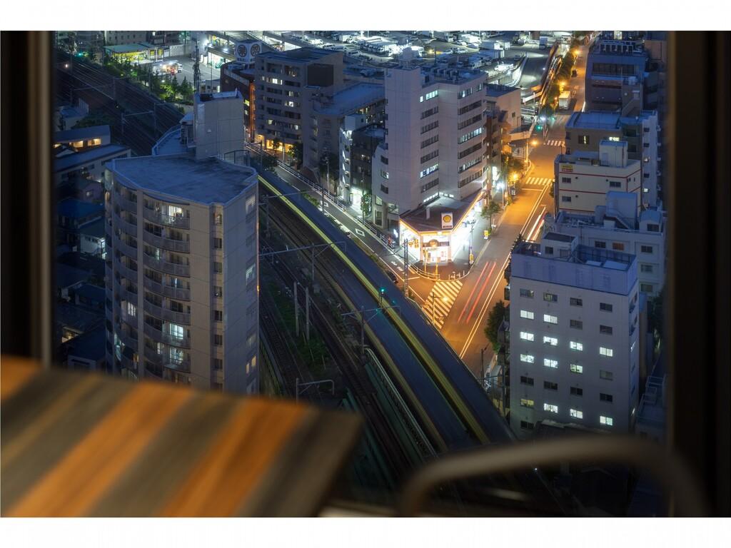 夜景+電車