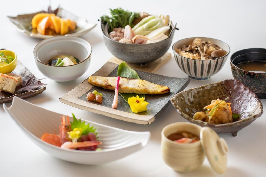 季節毎に変わる和食会席膳の一例(冬)