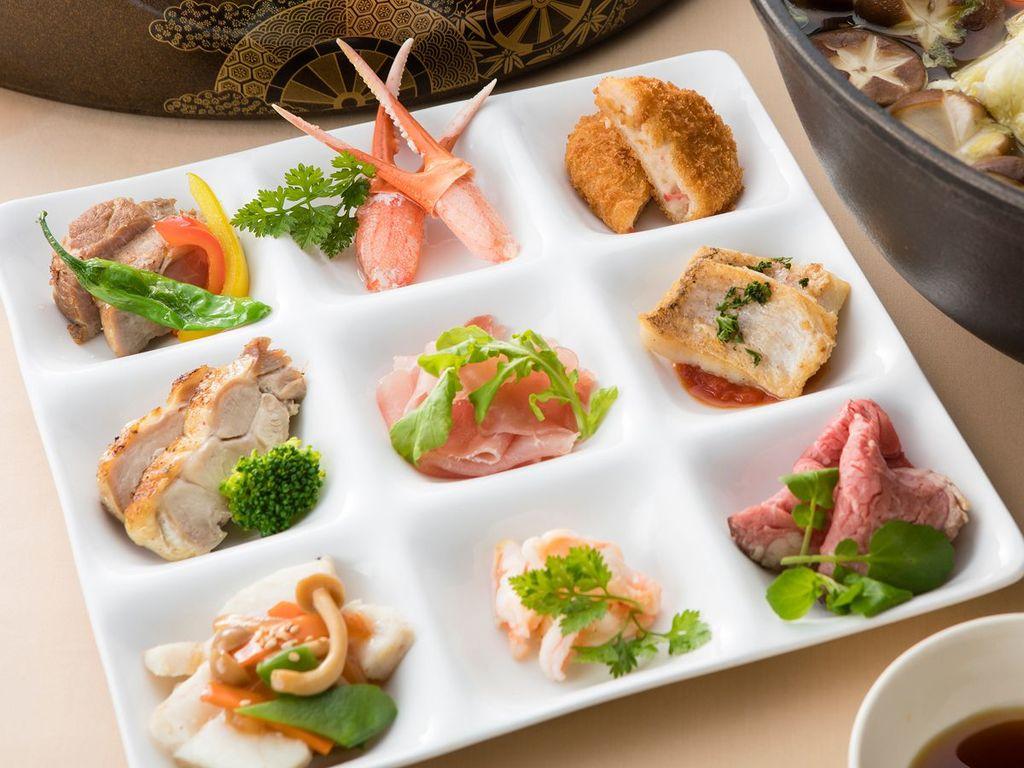 地元津山や岡山の味覚をふんだんに散りばめたディナーブッフェ(イメージ)
