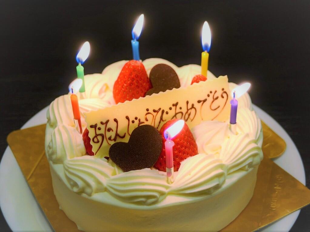 ホールケーキでお祝い☆ ※イメージです