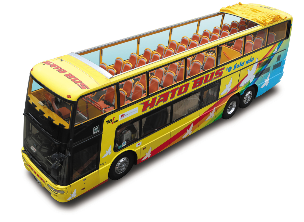はとバス 2階建てオープンバス オー・ソラ・ミオ