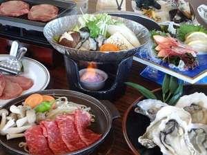 焼き牡蠣と陶板焼き