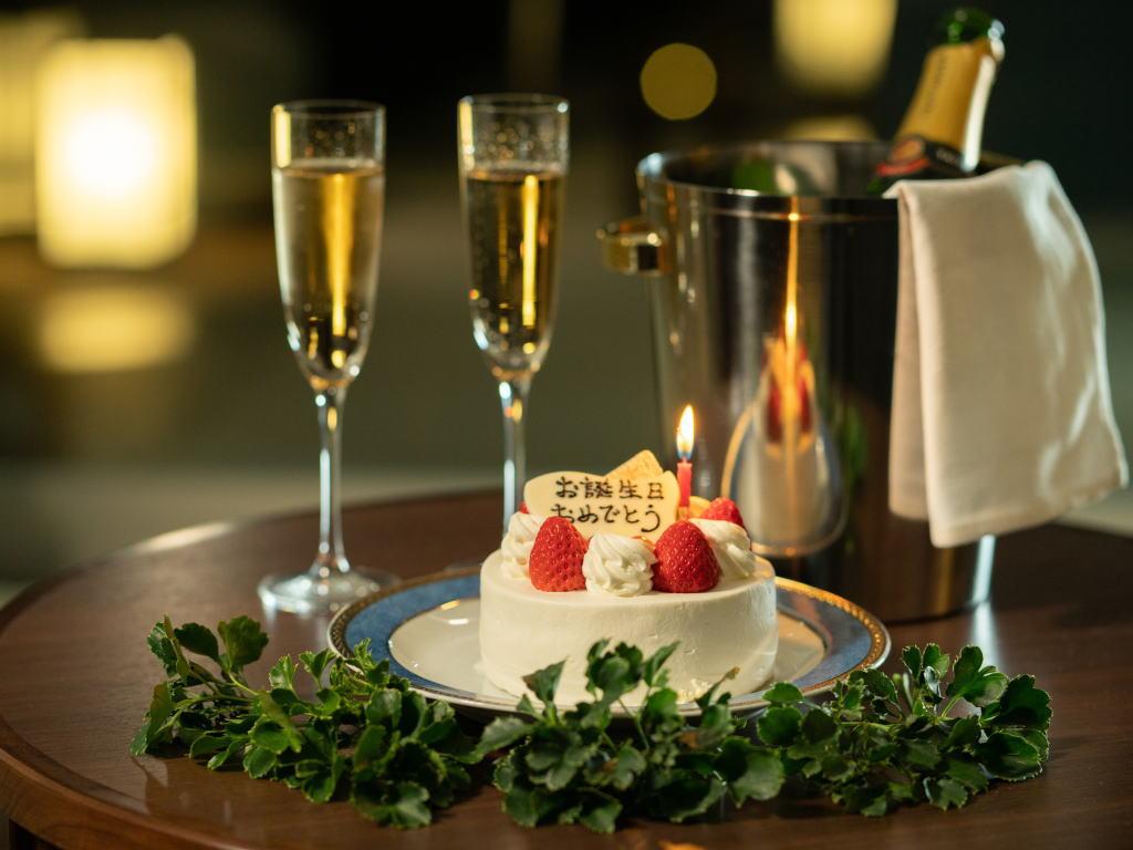 【記念日プラン】大室の杜玉翠で大切な方と「特別な時間」×「素敵な思い出」をシャンパン×ケーキでお祝い