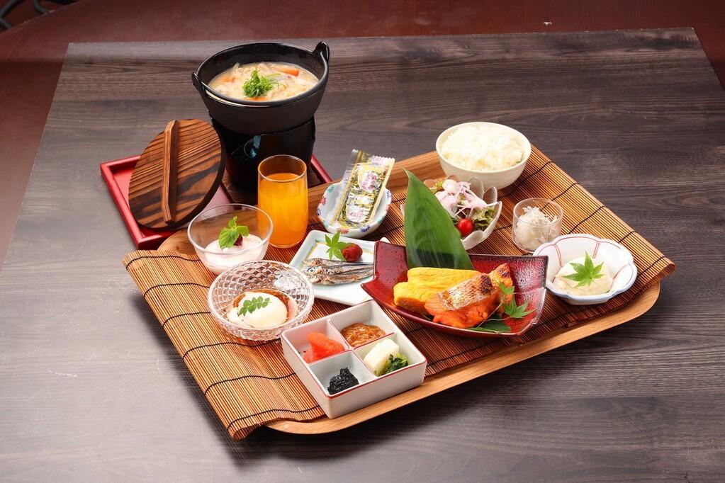 水春和朝食 ※写真はイメージです。季節により内容が異なる場合があります。