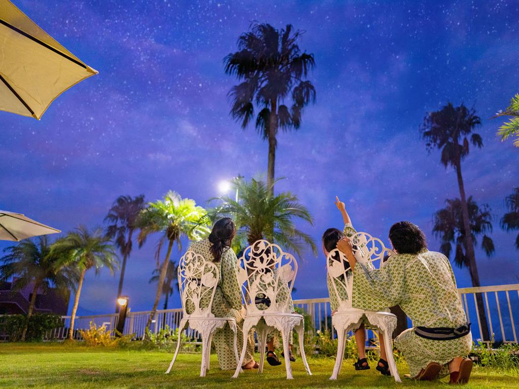 ■「あれはなんの星座?」遮るもののない海に面した当ホテルは星空の眺めもバツグン!