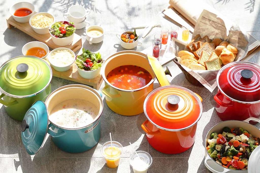 朝食は体を温めてくれるスープがオススメ。