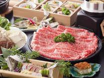季節の会席料理(すき焼き)