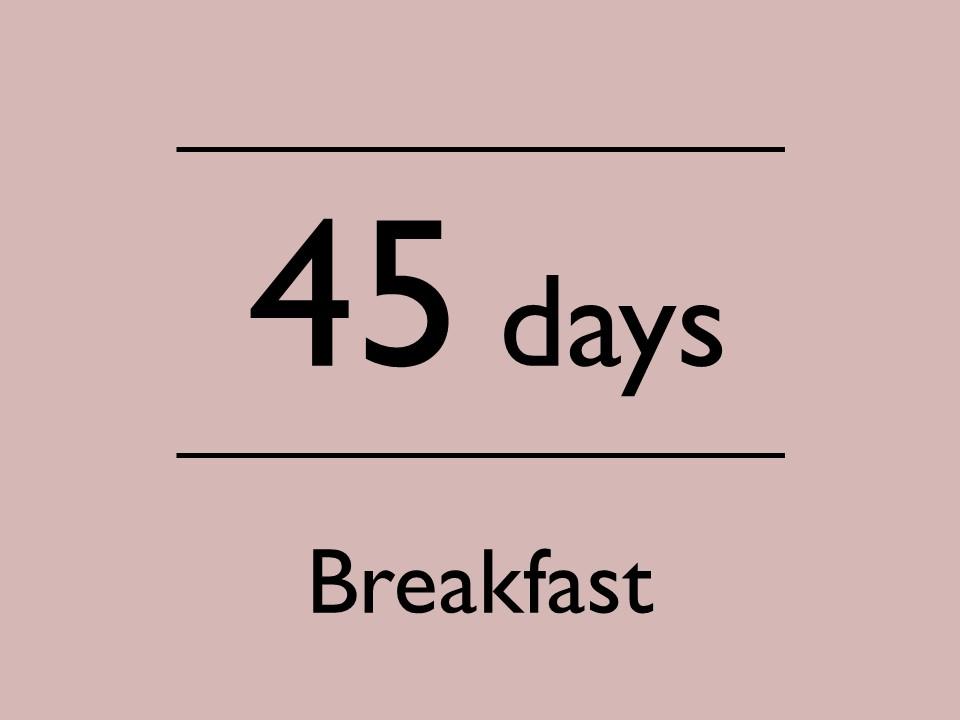 Advance45:朝食付