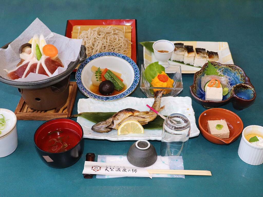 岩魚寿司の会席