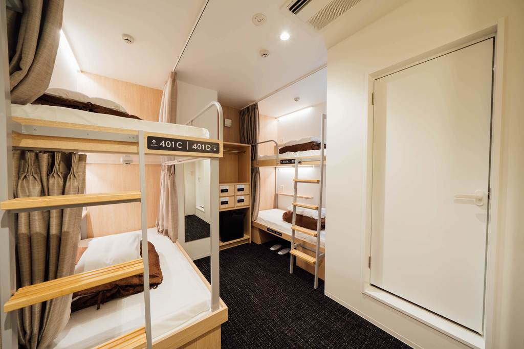 2段ベッド個室4人用