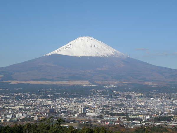 和室特別室バルコニーから見える富士山