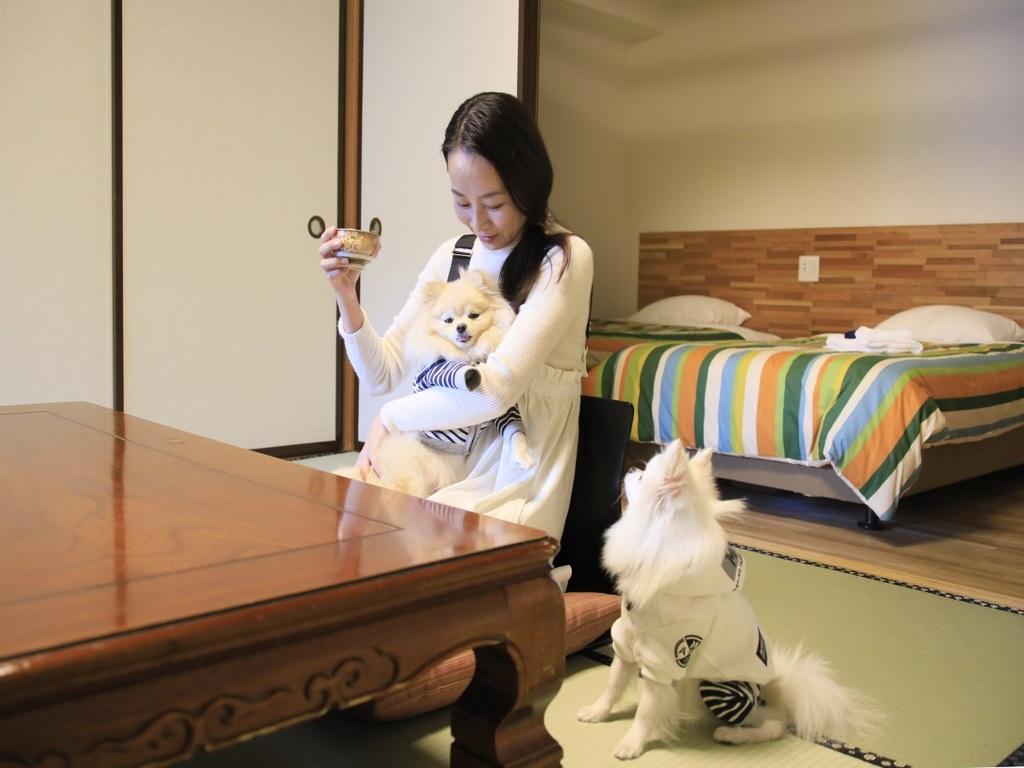 お部屋でも愛犬とごゆっくりお寛ぎください