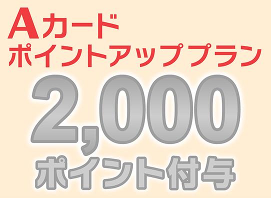 Aカード2000ポイント付与