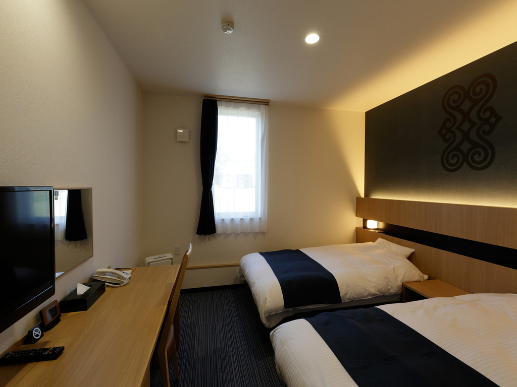 【ツインルーム】お泊りいただくお客様へ質の高い眠りとさわやかな目覚めをご提供いたします。