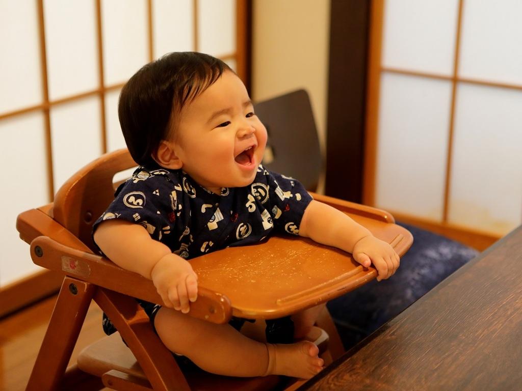 お食事処には赤ちゃん用のイスも完備。