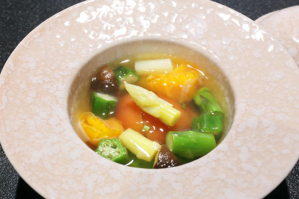 夏野菜お浸し(口直し一例)