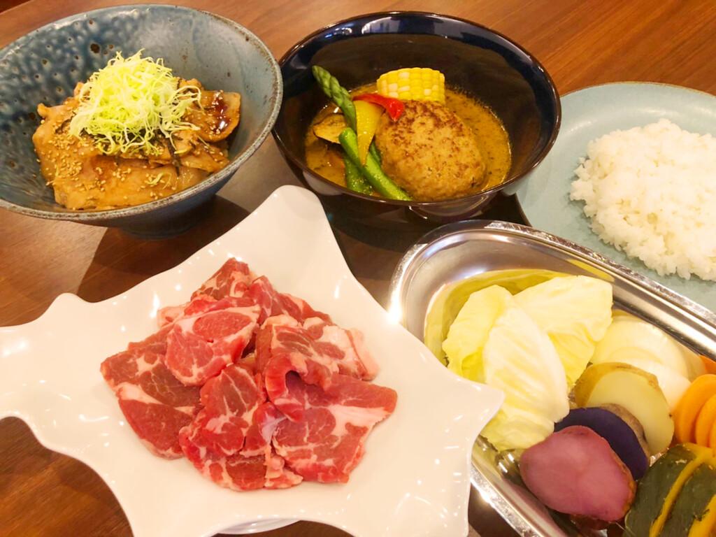 4種メニューの夕食イメージ