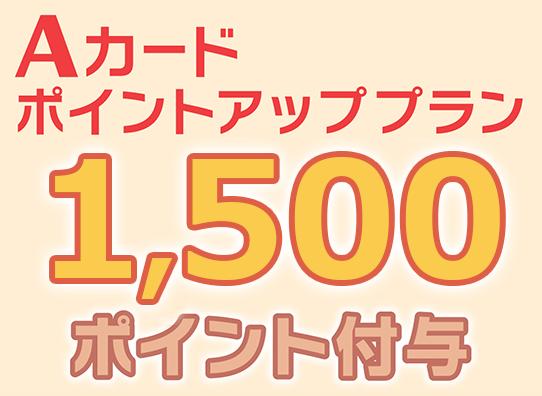 1500ポイントアップ