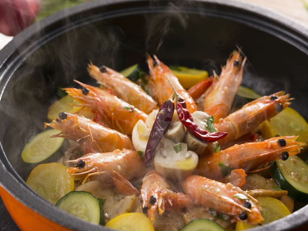【味なまつり冬/プレミアムダイニング】海老と帆立貝のローストアヒージョソース