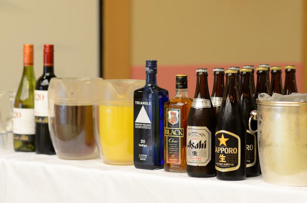 宴会飲み放題(一例)予算や希望に応じて、宴会時の飲み放題プランを各種ご用意。