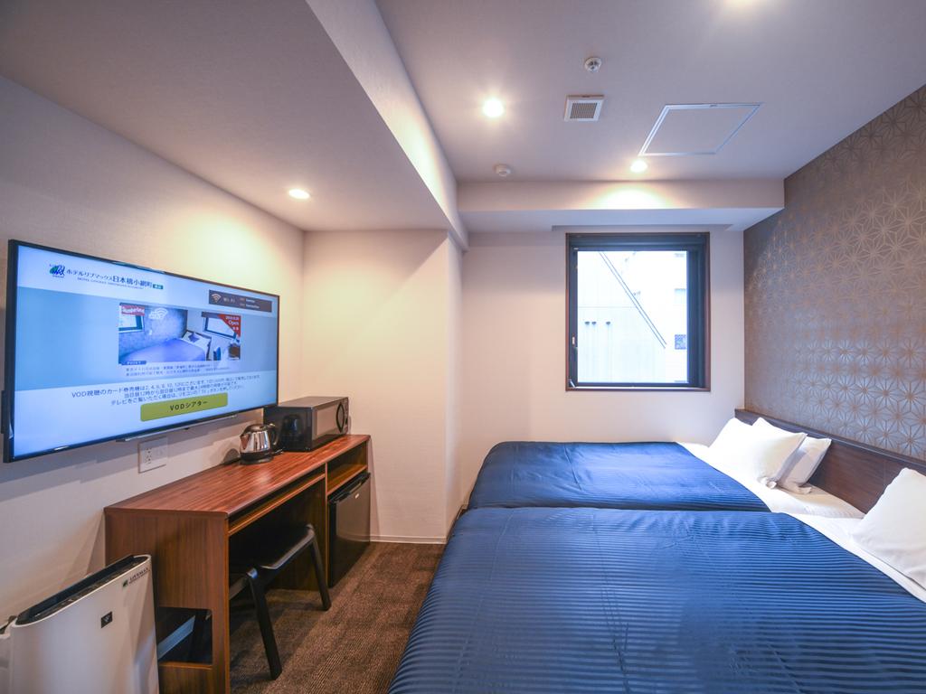 ◆ツインルーム◆全室4K対応テレビ・スランバーランド製ベッドを導入しております。