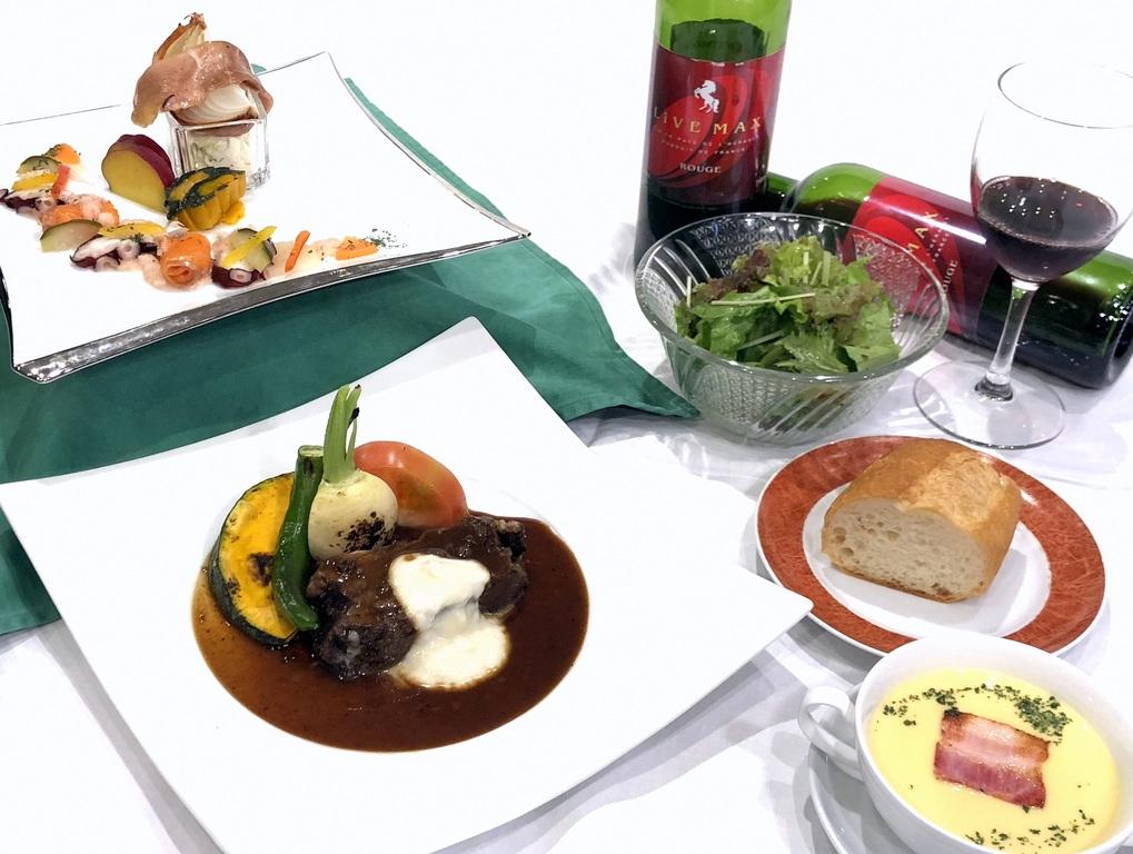 牛ほほ肉と根菜赤ワイン風味