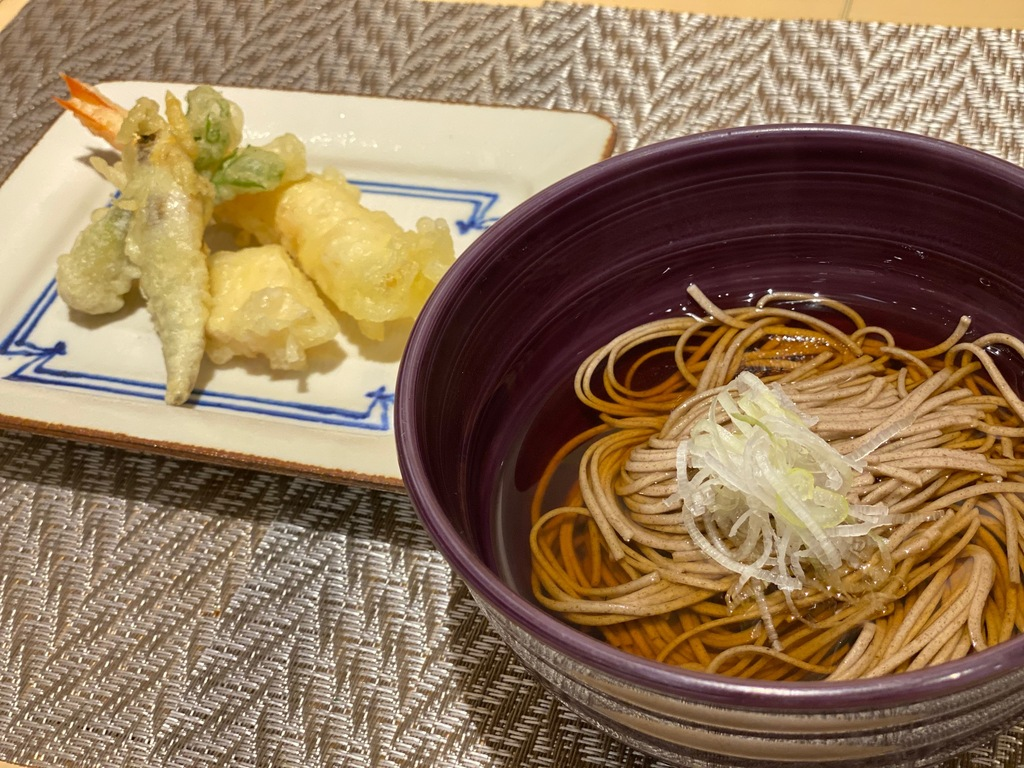 ご当地メニュー 蕎麦、天ぷら
