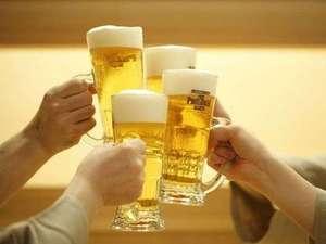 嬉しい!飲み放題60分♪(生ビール・日本酒・焼酎・サワー・ワイン・瓶ビール・ソフトドリンク)