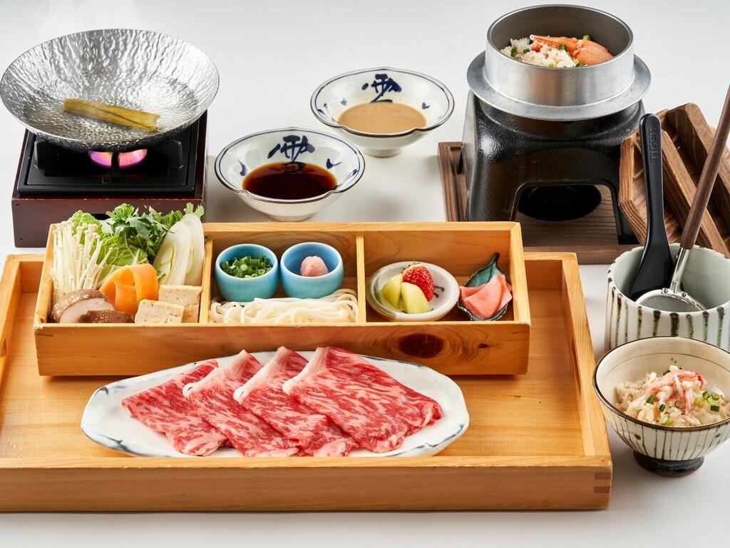 牛しゃぶしゃぶと釜飯(イメージ)