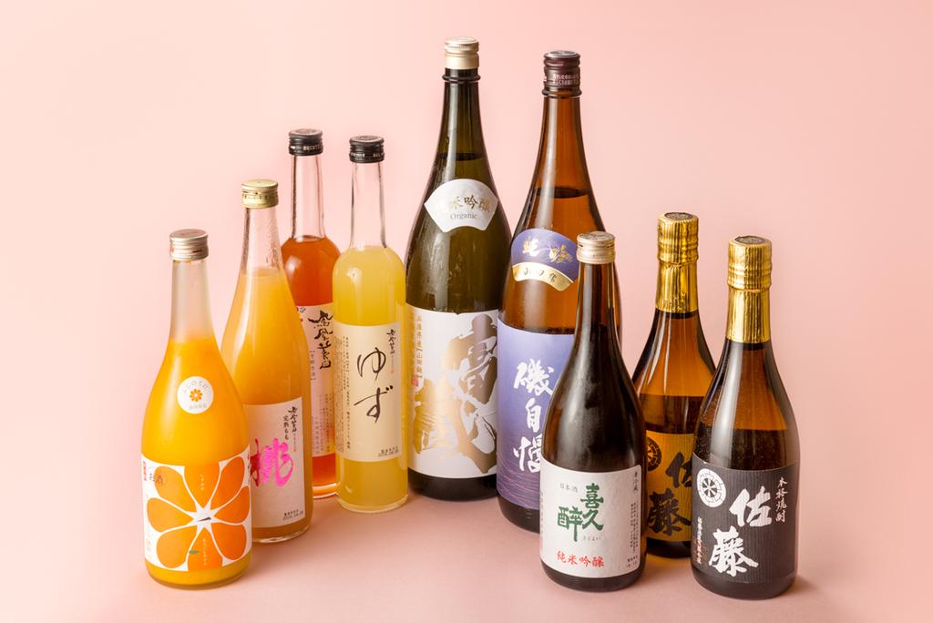 地元のお酒や珍しい日本酒など