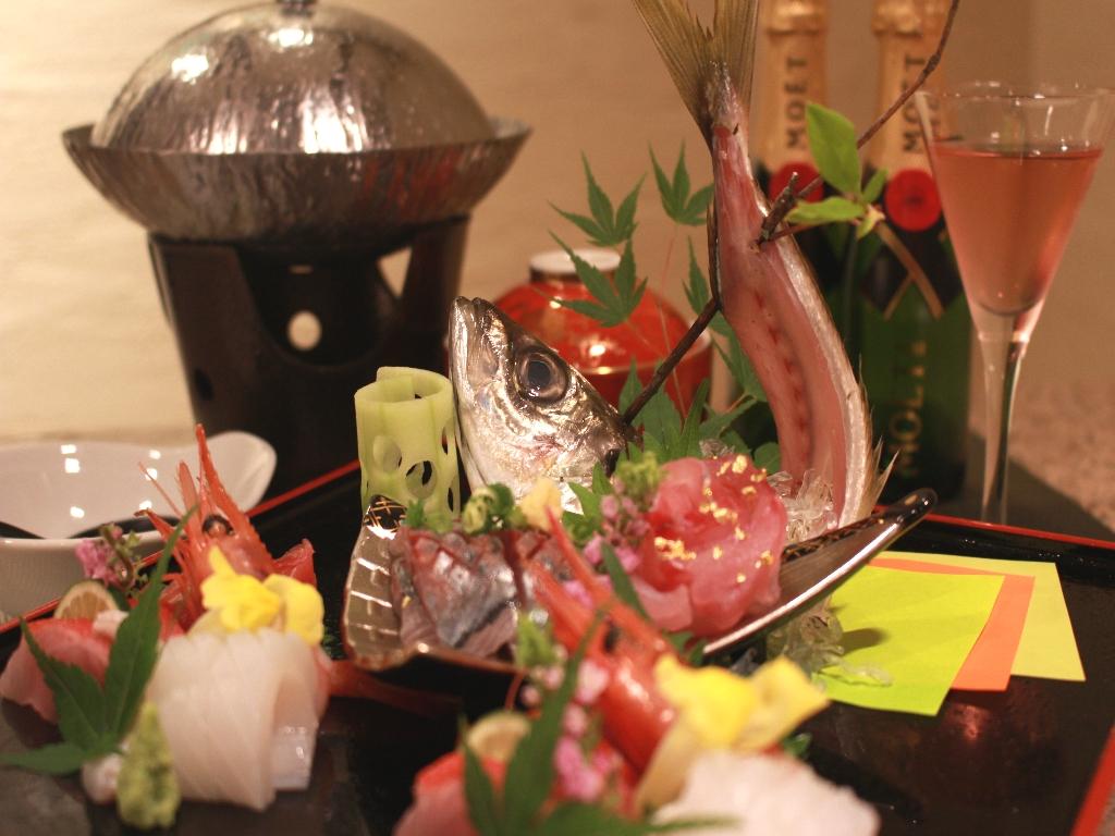 《夕食》和食お造り(一例)