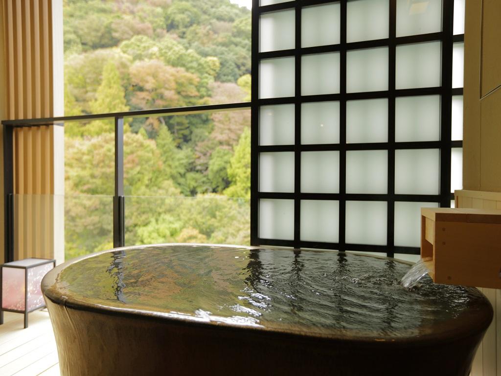 【~ハナ旅~放映記念】須雲川VIEW☆36㎡露天風呂付客室へグレードアップ!ゆったり寛ぐ箱根旅♪