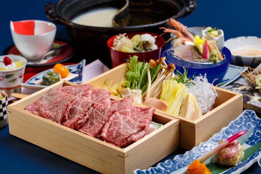 夕食(和牛しゃぶしゃぶ)