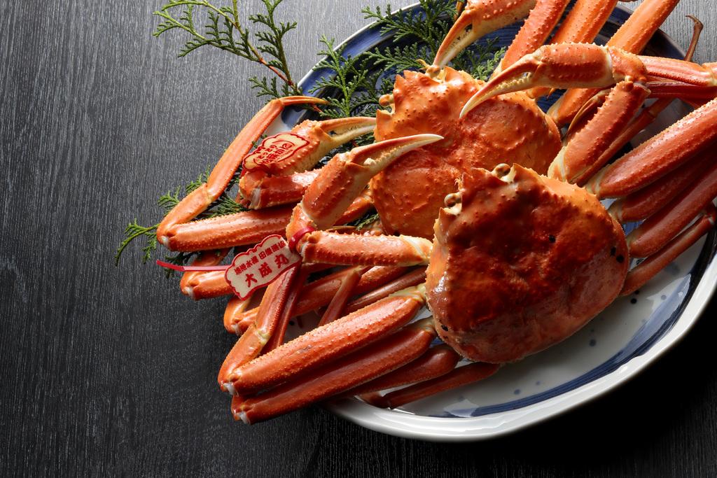 タグ付き松葉蟹
