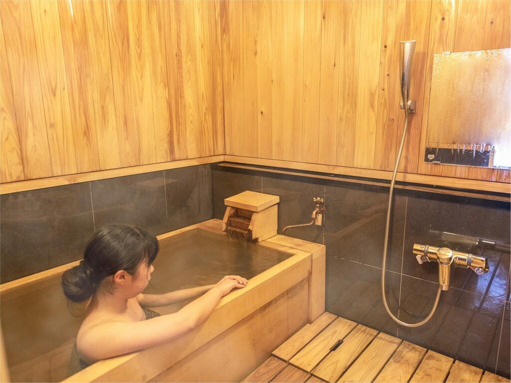 客室檜内風呂(一例)