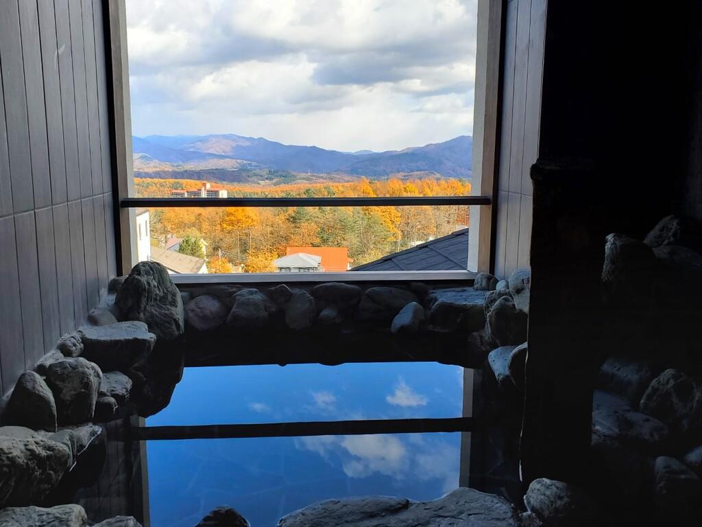 【貸切露天風呂/無料】 岩の湯〜雄大な景色が一望出来ます。