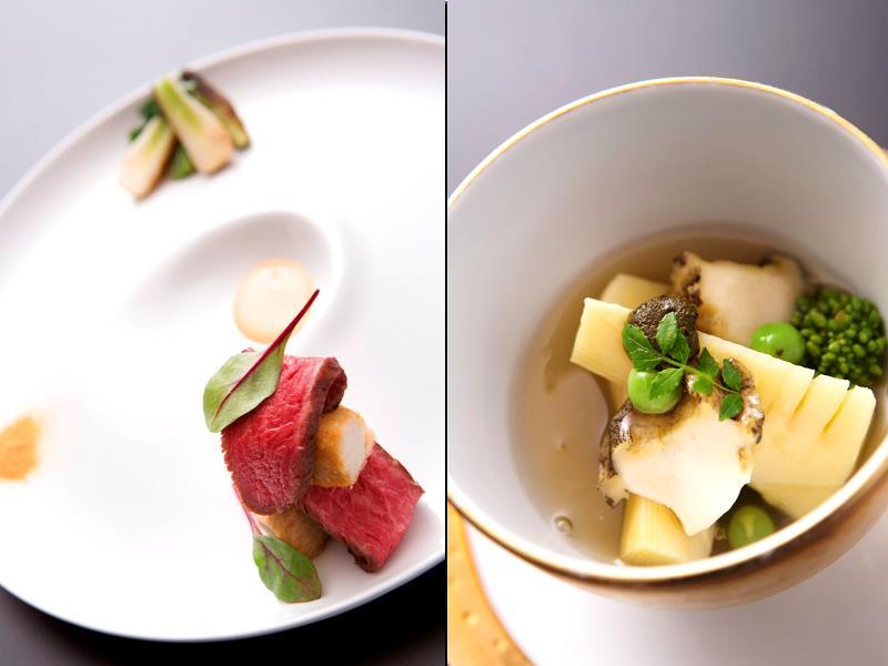 日本料理・ラグジュアリーコース【雅】一例。内容は季節に応じてご変更致します。