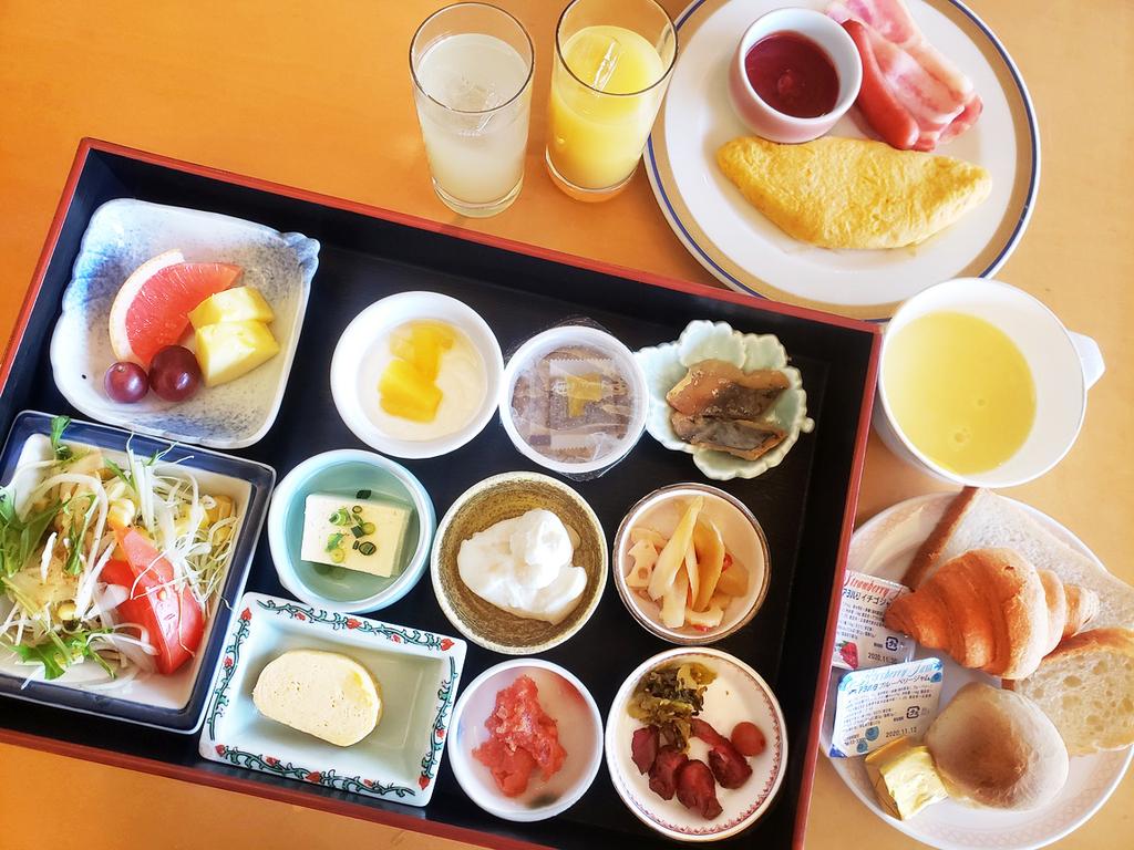 1定食スタイルのご朝食