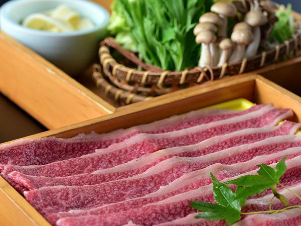 """ご夕食は、おおいた和牛""""豊後牛""""1人前300g満腹サイズ『しゃぶしゃぶ』コース"""