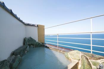 太平洋の絶景が見える山上館温泉露天風呂付客室と豪華伊勢海老ハーフバイキング