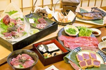 【1日3組限定】館内の居酒屋で南紀の食材たべつくし!!鮪・クジラ・熊野牛など!!海つばめプラン