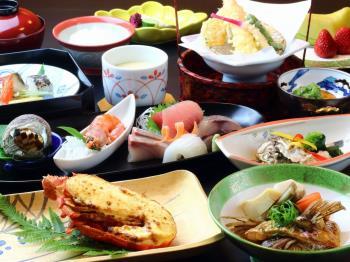 山上館レストラン「つやぶき」会席料理プラン