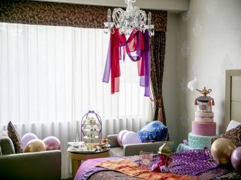 【お部屋でアフタヌーンティー×プリンセスルームプラン】~アラジンと魔法のよう...
